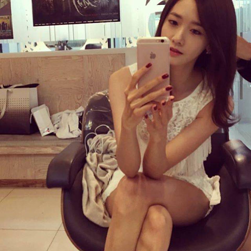 Yoona 剪髮自拍